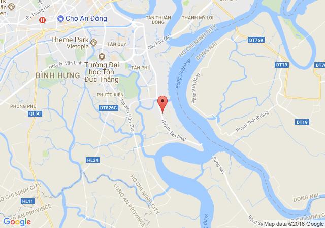 Cần cho thuê khách sạn mặt tiền Huỳnh Tấn Phát, huyện Nhà Bè gồm 28P và 6 phòng Vip