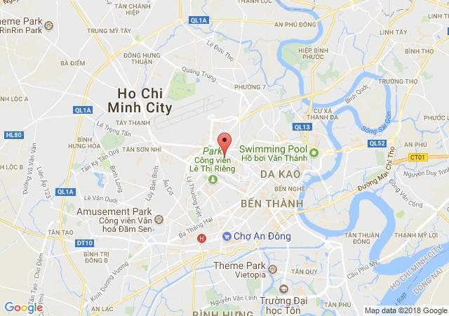 Nhà nguyên căn mặt tiền đường Huỳnh Văn Bánh, P. 11, Q. Phú Nhuận. diện tích 22x36m, 1 trệt 2 lầu, giá 220 triệu/th
