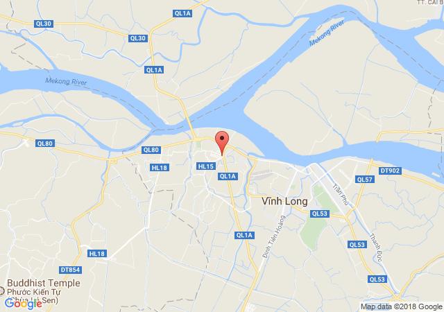 Cho thuê nhà mặt tiền, đường Phạm Hùng, F2 TP. Vĩnh Long